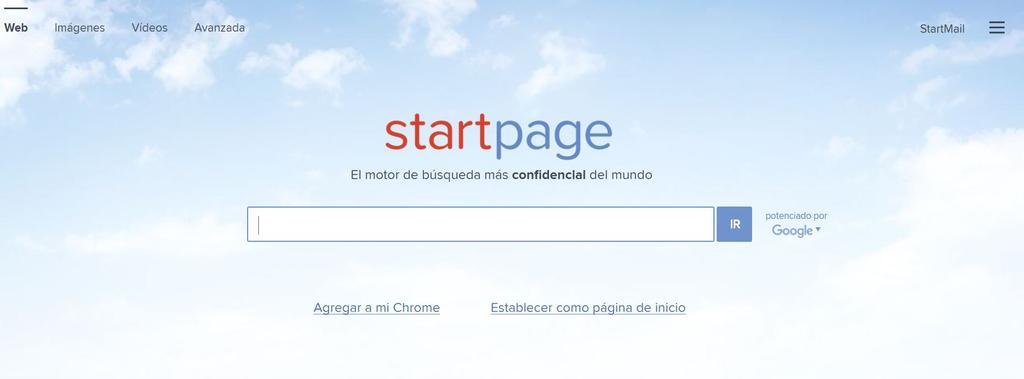 Buscador anónimo Starpage para recuperar botón Ver imagen