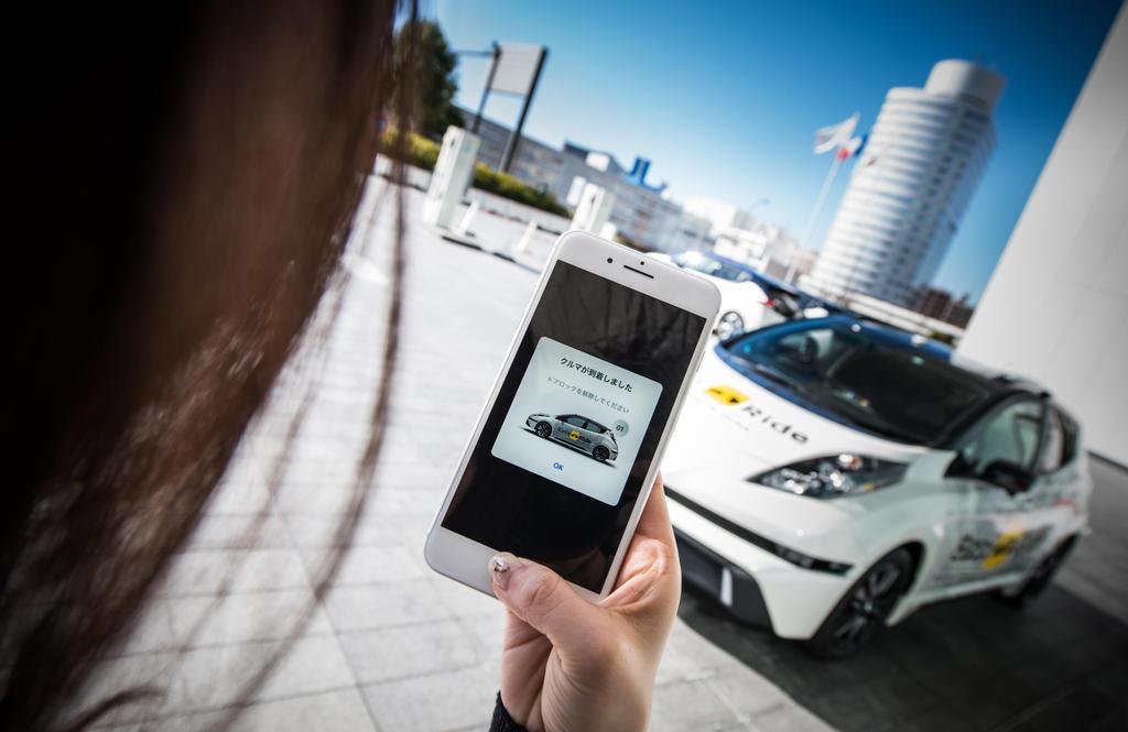 Taxis autónomos Nissan Leaf