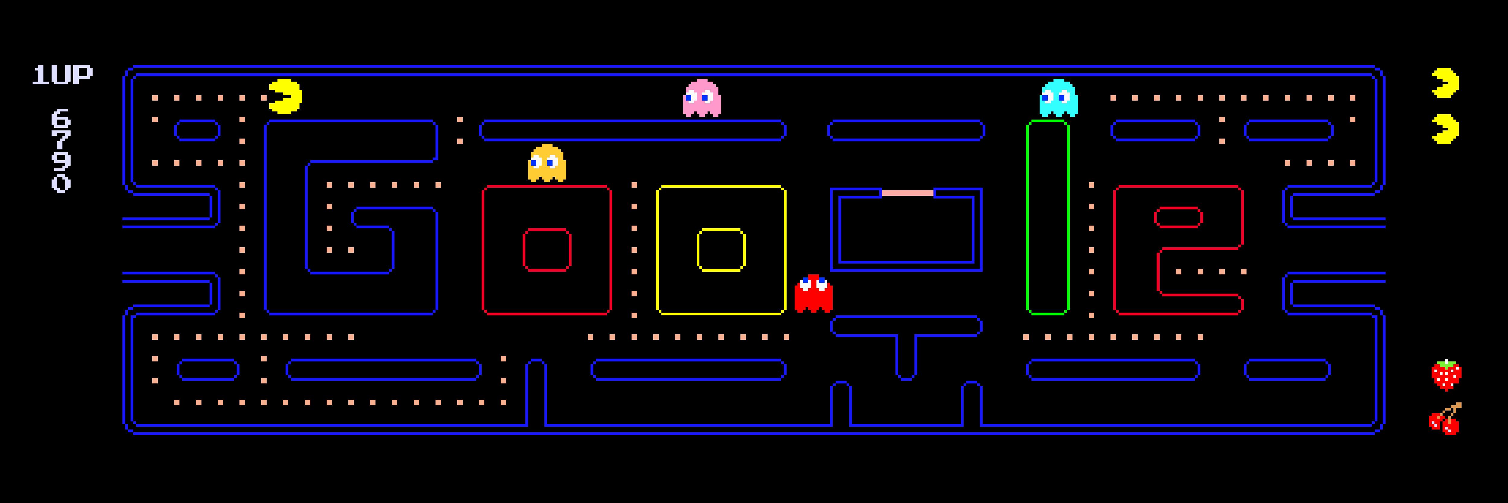 Logo de Google con PacMan