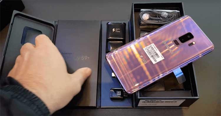 Unboxing del Samsung Galaxy S9+