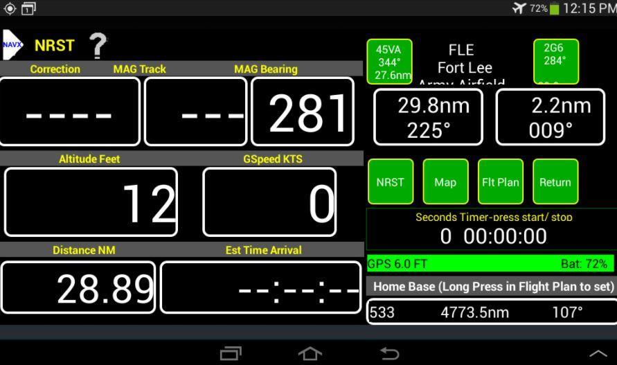 Aplicación VFR GPS Airplane Navigation