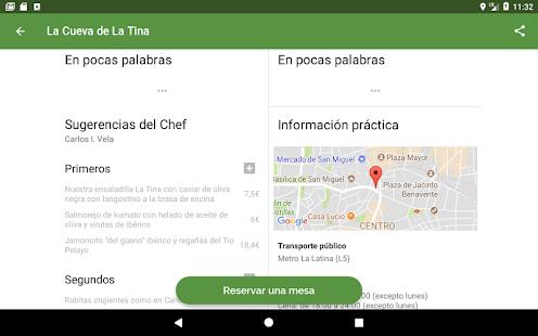 Aplicación ElTenedor Restaurantes