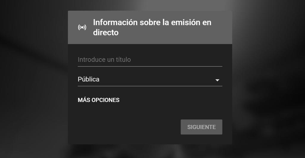 Emisión directo desde PC con YouTube