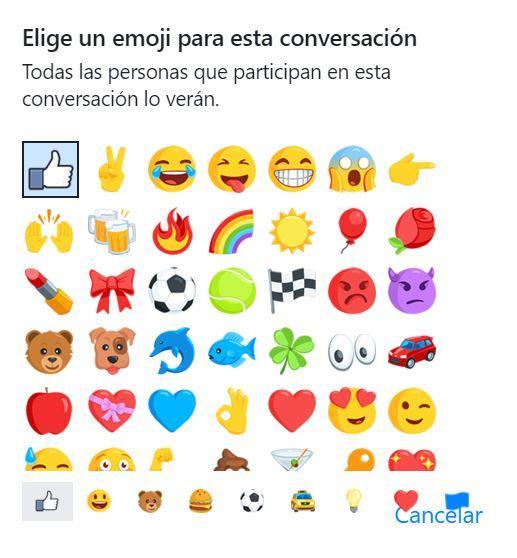 Cambio emoji en Facebook Messenger