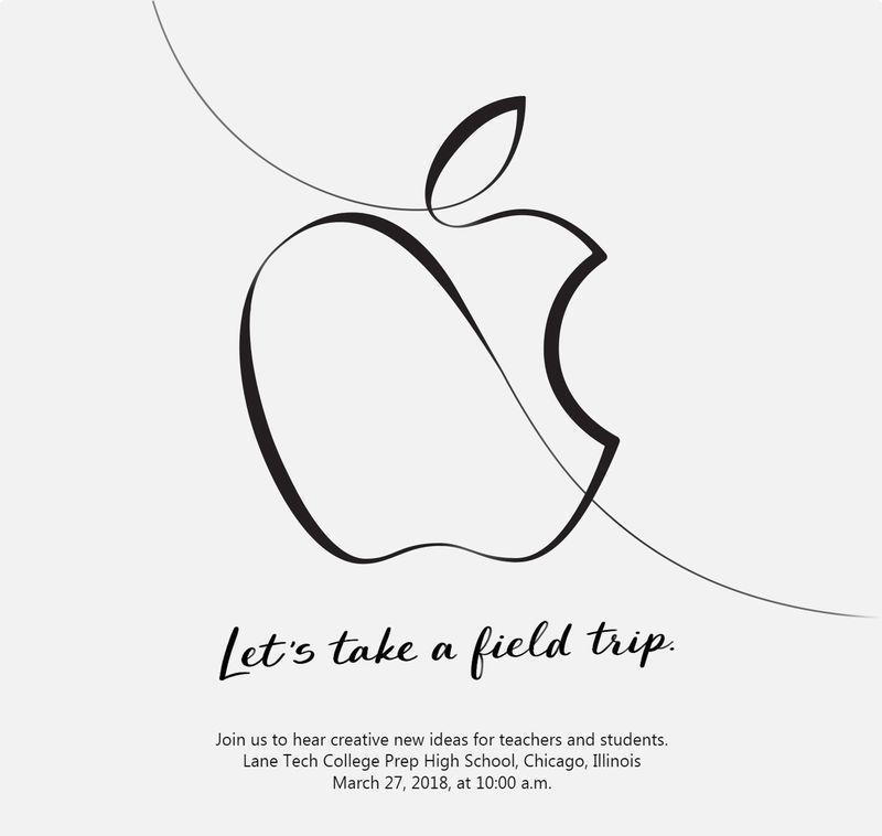 Invitación evento Apple marzo 2018