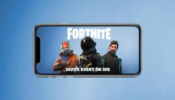 Juego Fortnite Battle Royale en iPhone de Apple