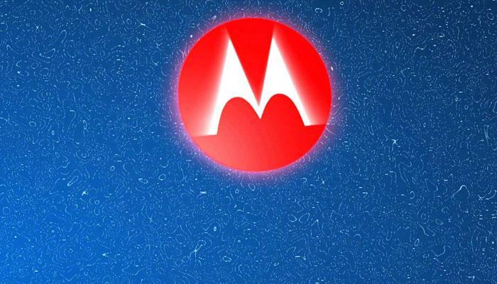 Logotipo de Motorola con fondo azul