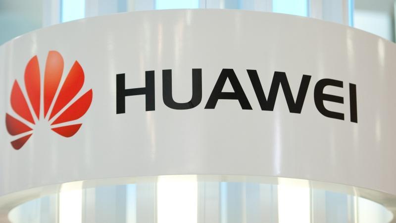 Logo de Huawei con fondo blanco
