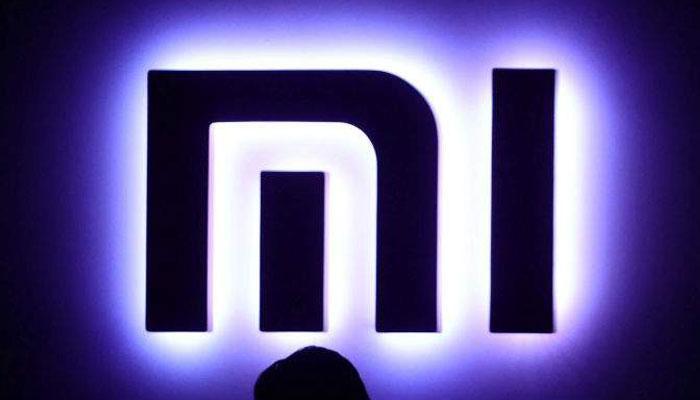 Logo Xiaomi con fondo negro
