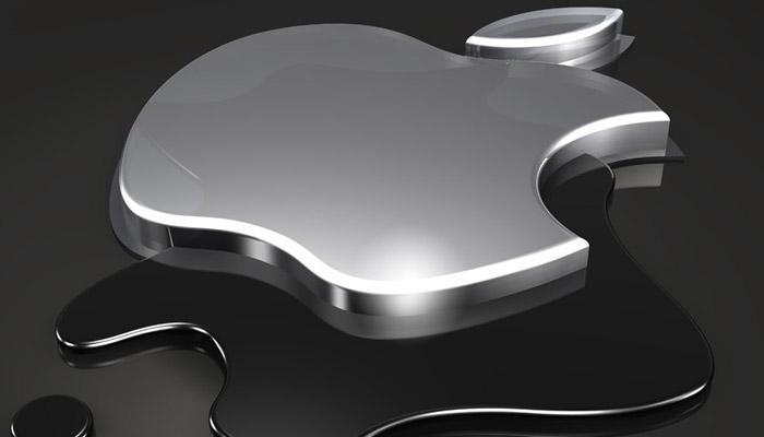 Logo de Apple con fondo negro