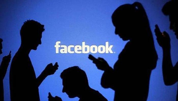 Logo de Facebook con sombras