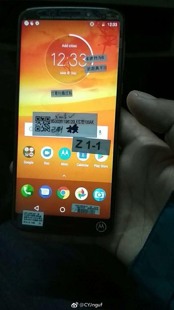 Imagen frontal del Motorola Moto E5 Plus