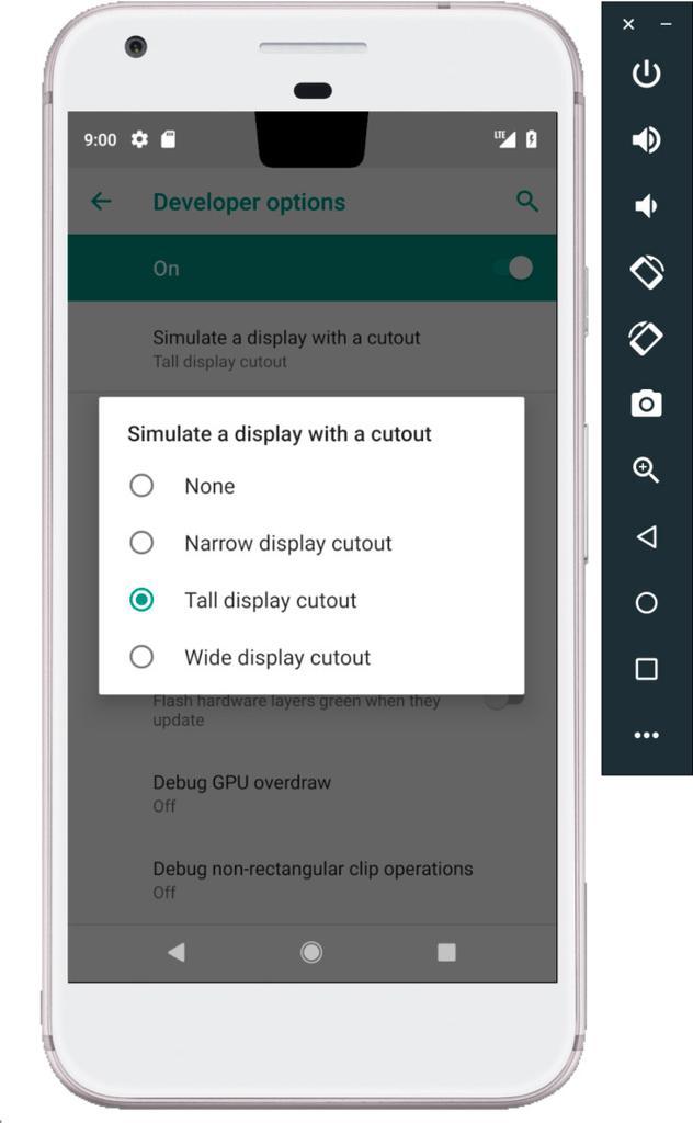 Inclusión Notch en Android P
