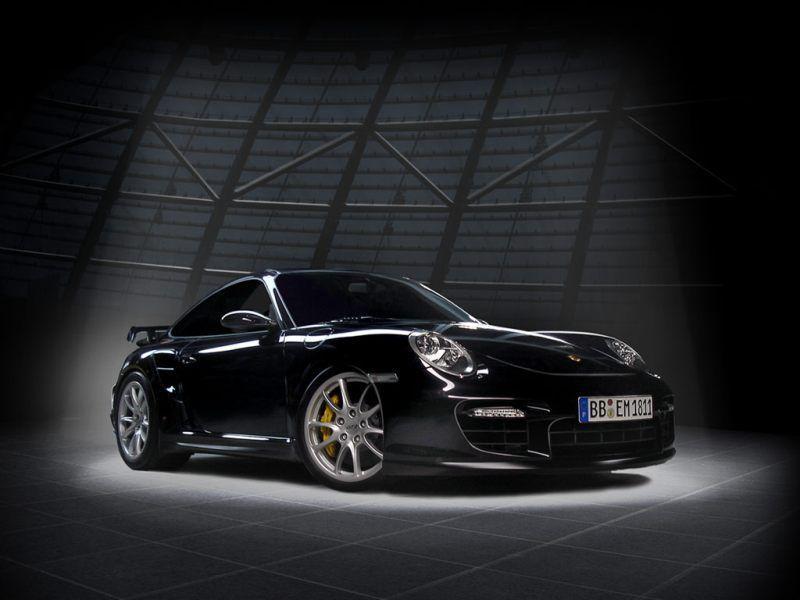 Coche Porsche 911 de color negro