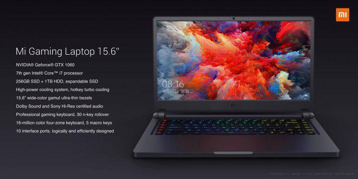 Nuevo Xiaomi Mi Gaming Laptop