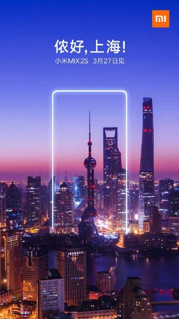 Póster de presentación del Xiaomi Mi Mix 2S