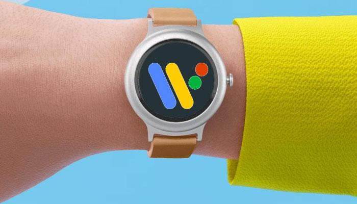 Smartwatch con logo Wear OS
