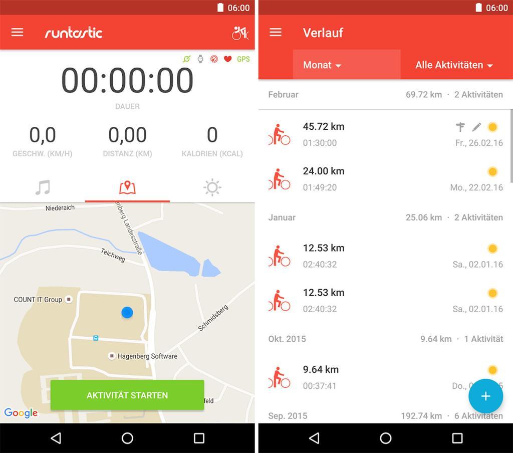 Aplicaciones Runtastic Road Bike PRO