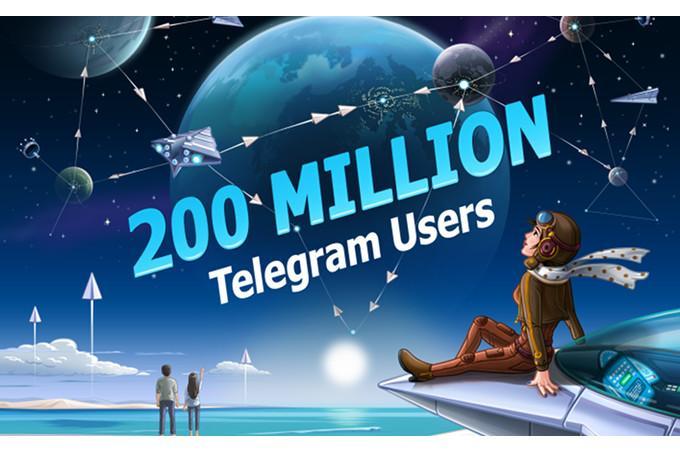 Imagen 200 millones de usuarios en telegram