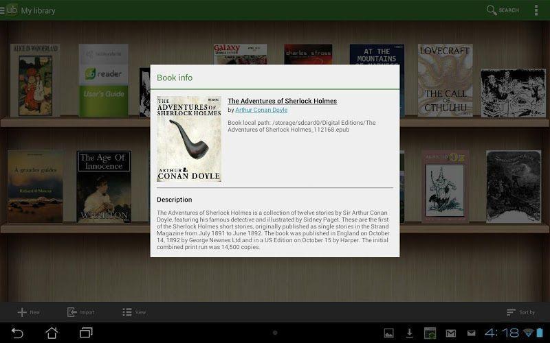 Aplicación Universal Book Reader