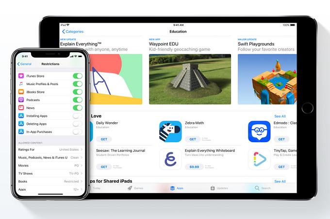 Opciones de Apple Families