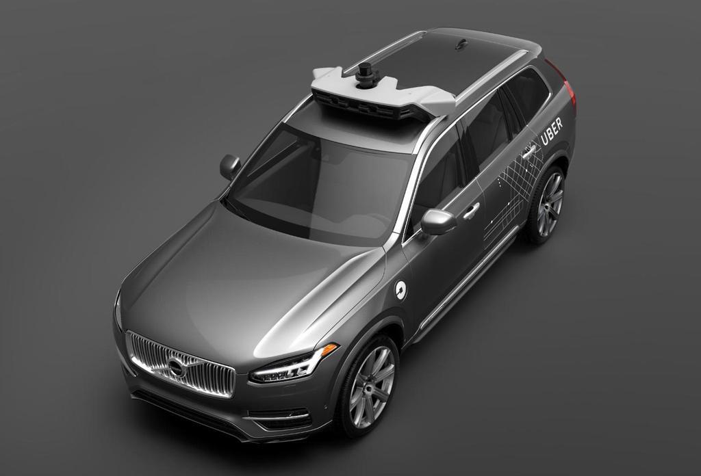 Coche autónomo de Uber Volvo XC90