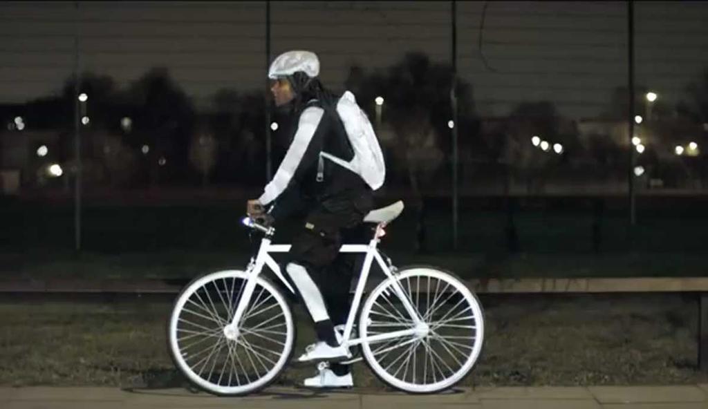 Spray reflectante para bicicletas