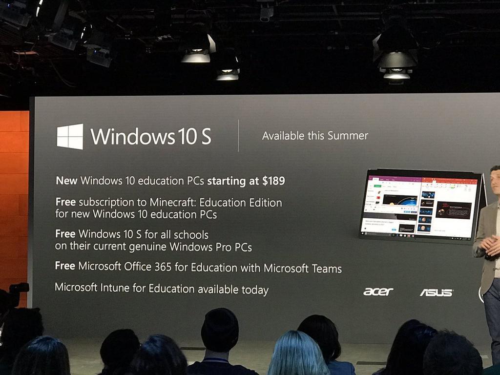 Opciones de Windows 10 S