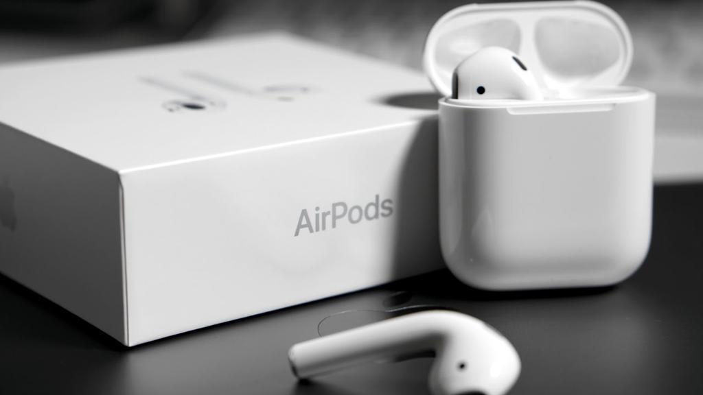 Auriculares Apple AirPods con su caja