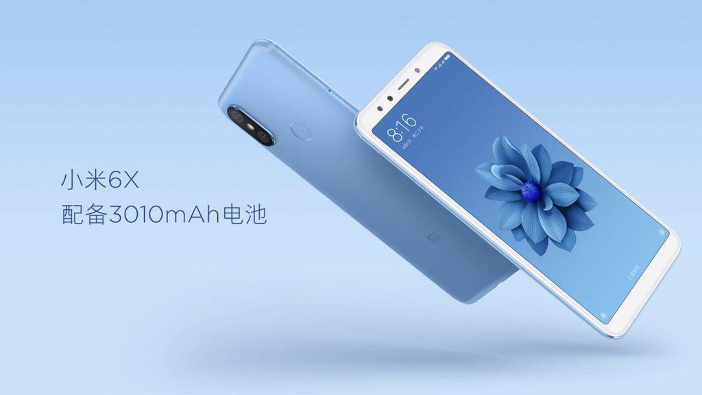 batería y diseño del Xiaomi Mi 6X