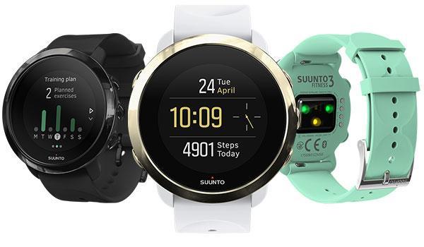 Diferentes colores del smartwatch Suunto 3 Fitness