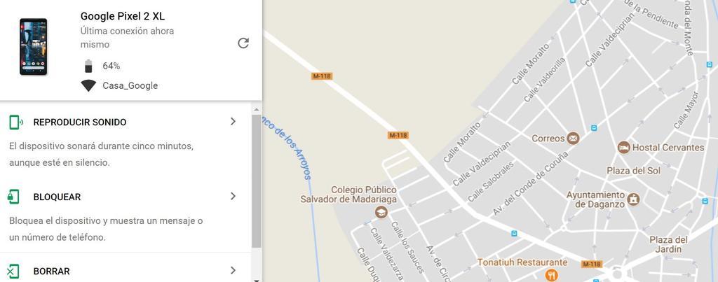 Encontrar teléfono Android perdido