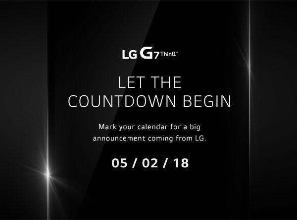 Invitación a la presentación del LG G7 ThinQ