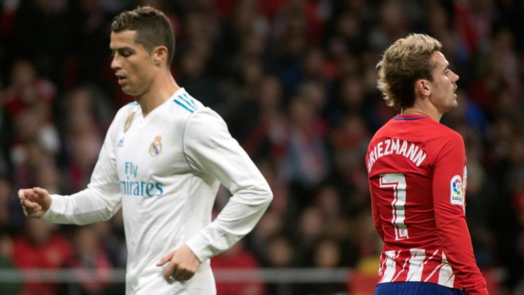 Cristiano Ronaldo y Antoine Griezmann Real Madrid - Atlético de Madrid