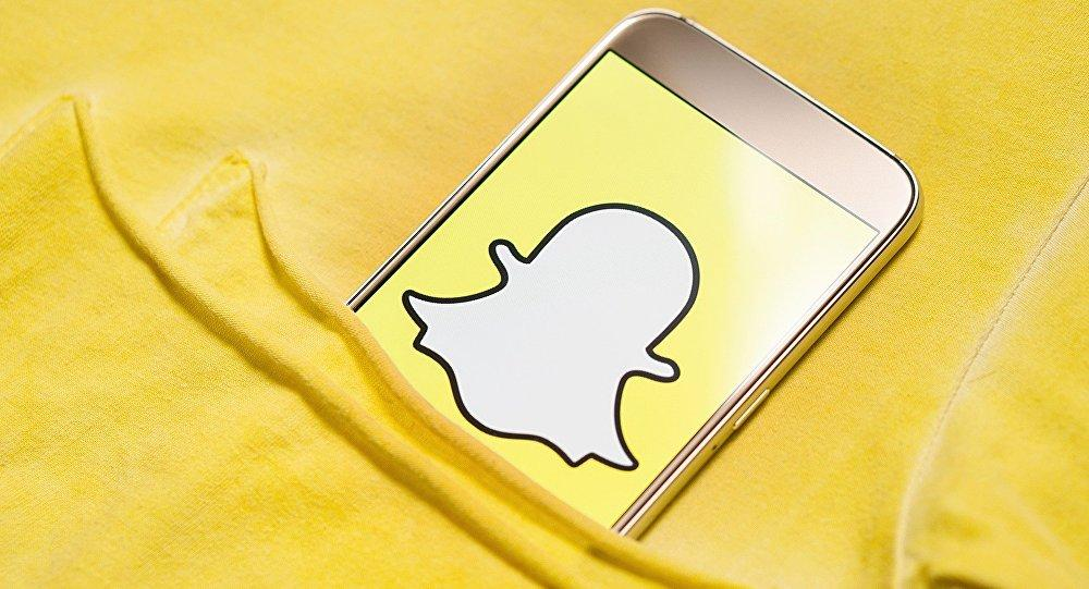 Logotipo de Snapchat en un smartphone