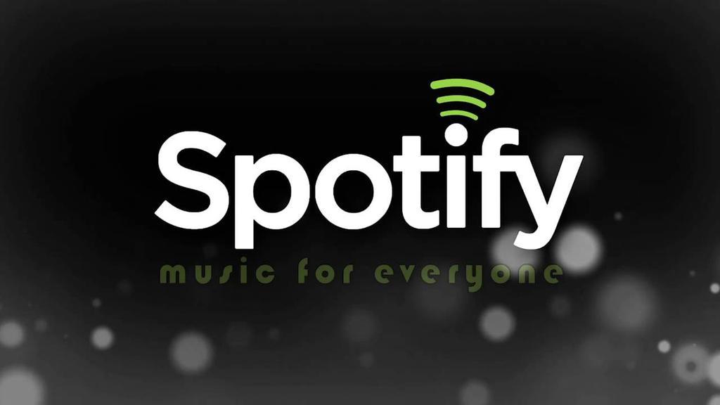 Logotipo de Spotify con fondo negro