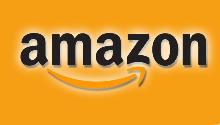 Logotipo de Amazon con fondo naranja