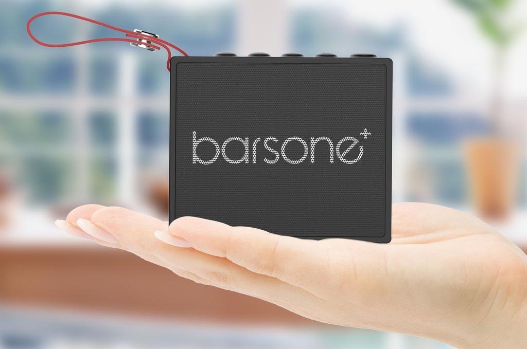 Dimensiones del altavoz Bluetooth e impermeable de Barsone