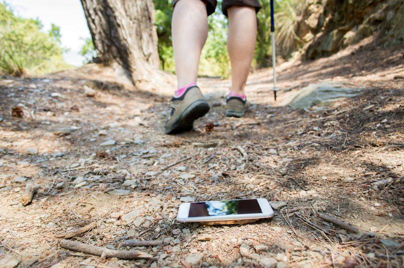 Smartphone que se he perdido en el campo