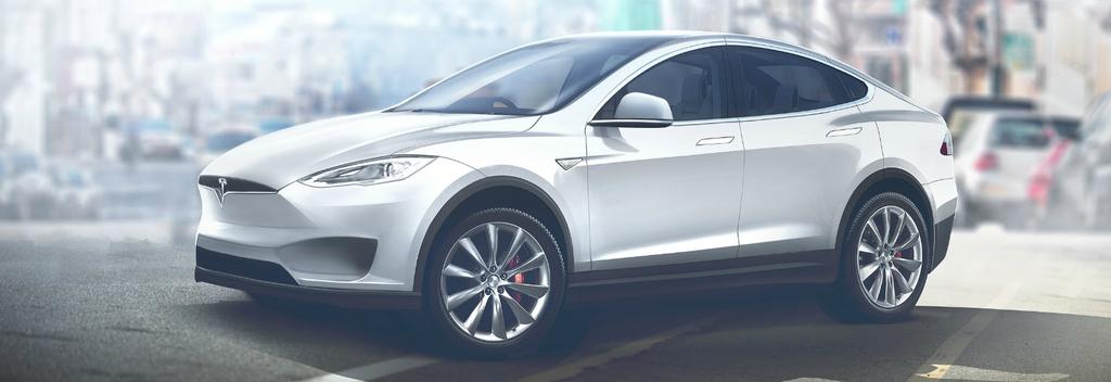 Aspecto de un Tesla Model Y de color blanco