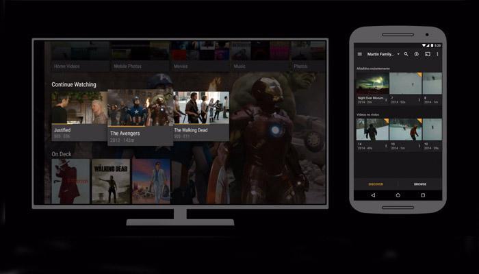 Smartphone envío a una TV