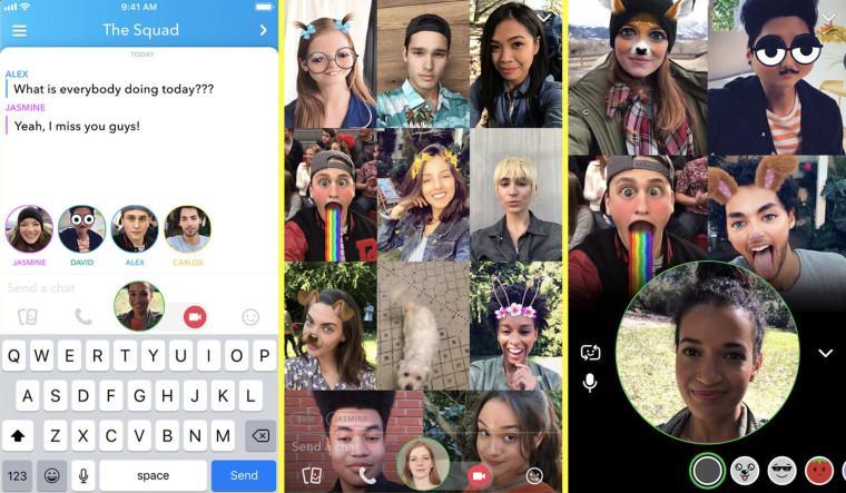 Nuevo video chat en Snapchat