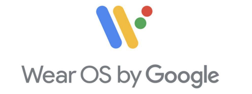Logo de wear OS con fondo blanco