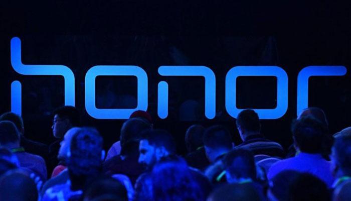 Logotipo de Honor con fondo azul