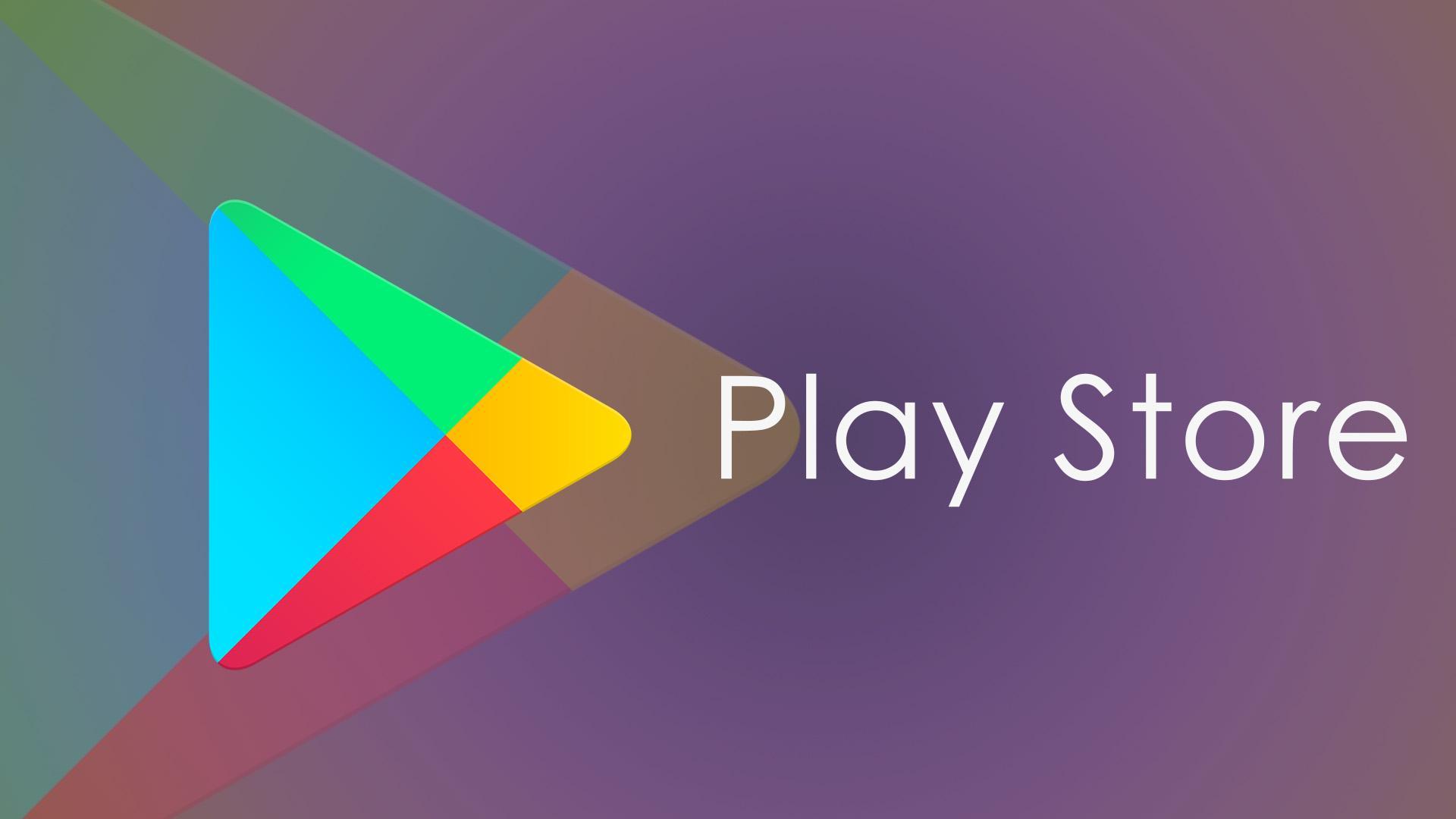 Logotipo Play Store Android con fondo morado