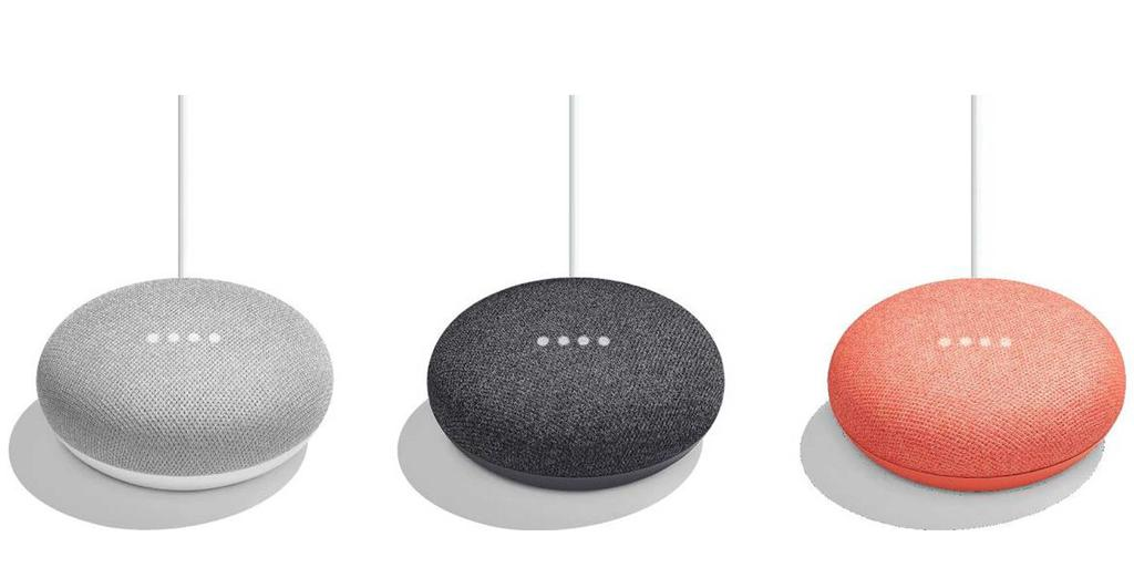 Colores altavoz Google Home Mini