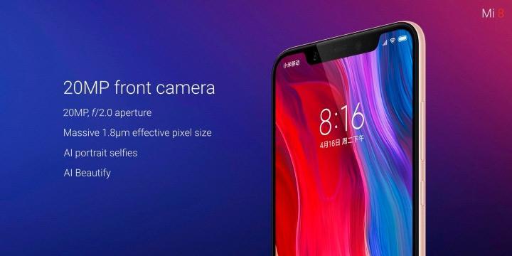 Cámara frontal del Xiaomi Mi 8