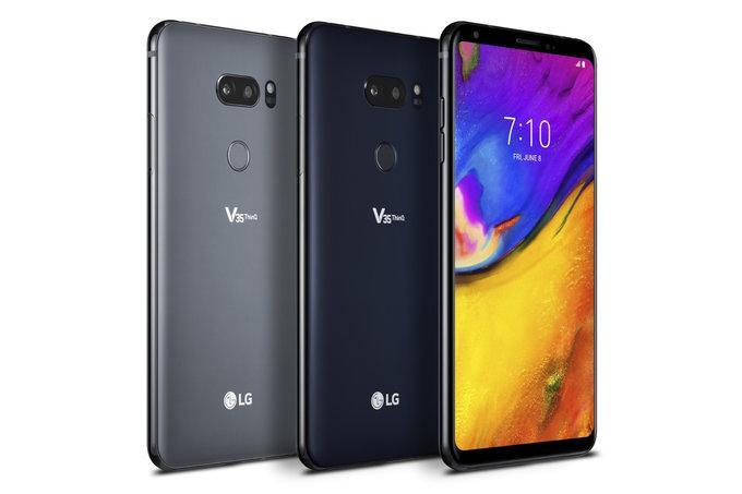 Colores del teléfono LG V35
