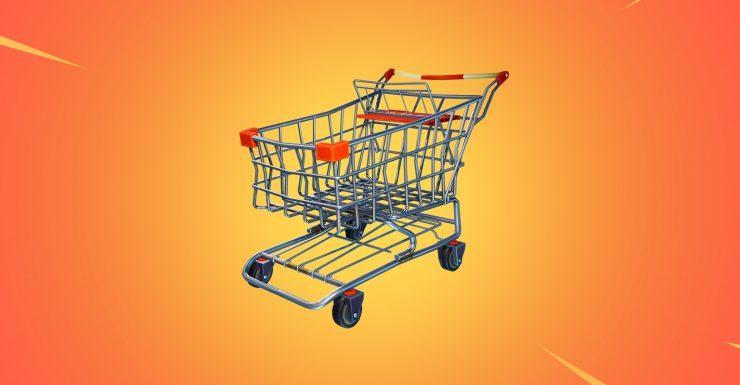 Carrito de la compra en Fortnite