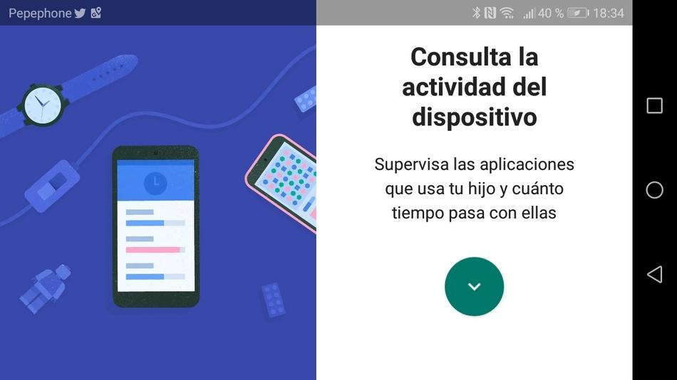 Interfaz de Google Family Link